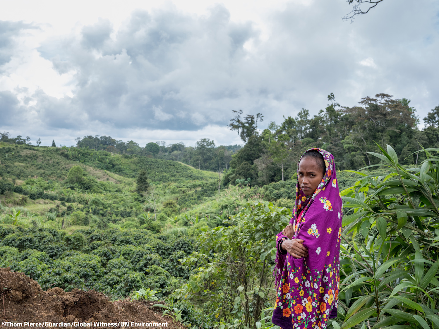 "RS5793_LARGE - Mirivic ""Tarsila"" Danyan - overlooking the coffee plantations near the village of Tabasco where she lives."